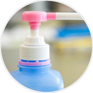 医療用の消毒液使用